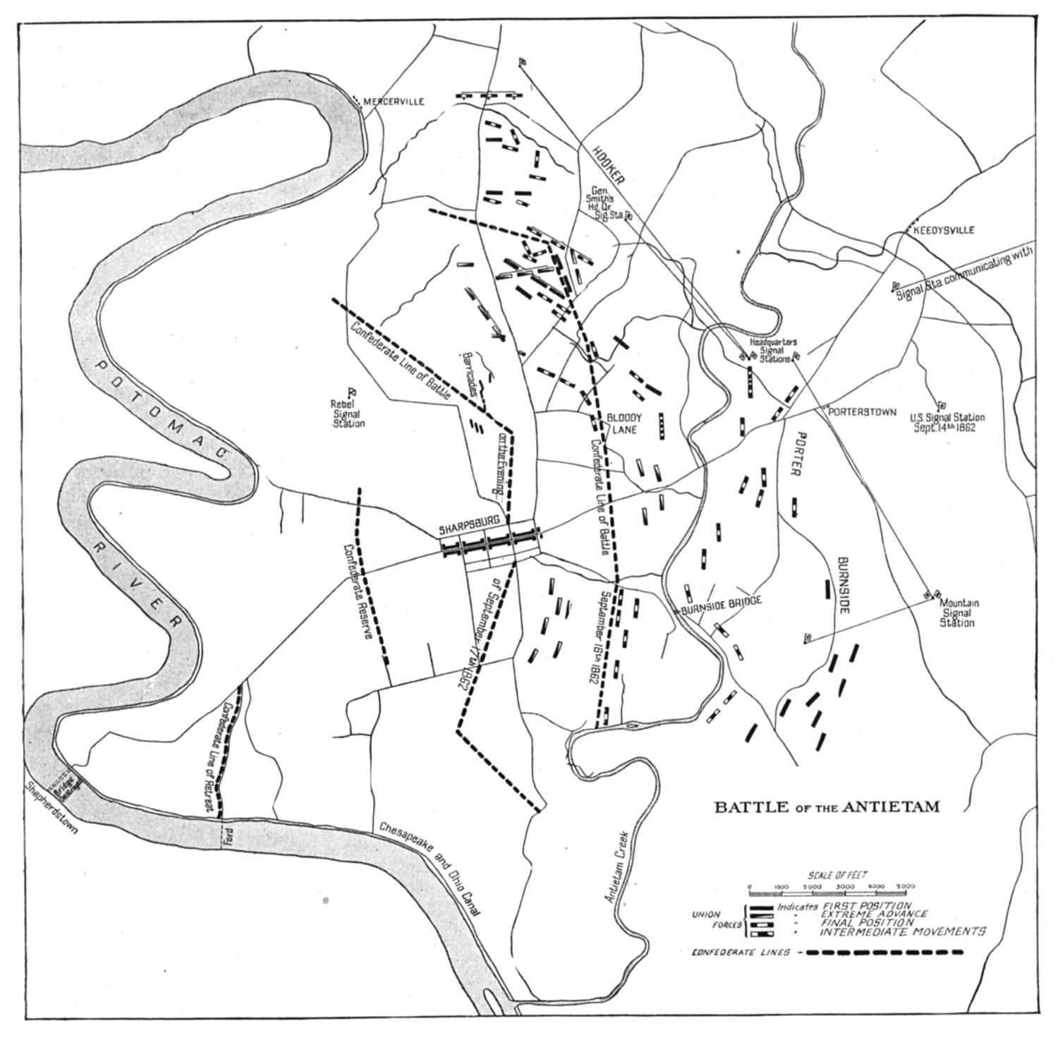 related resources antietam battle map