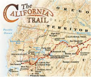 Map Of California Gold Country.The California Trail