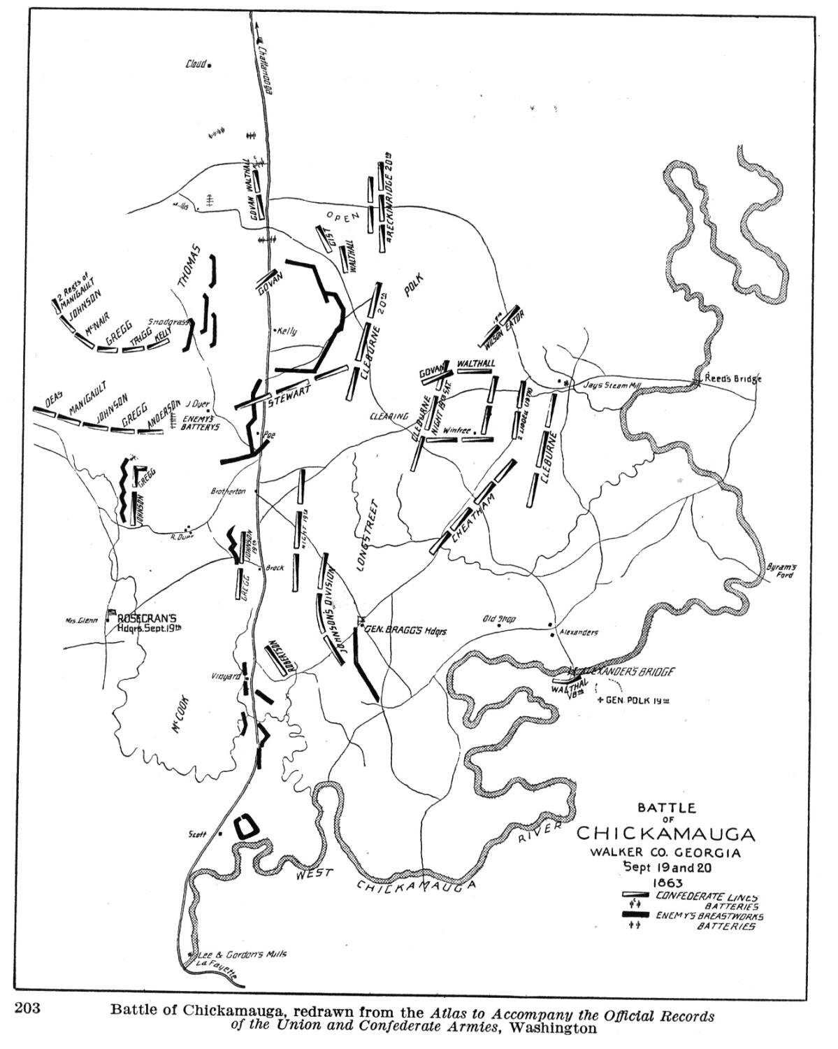 Chickamauga Chikamauga On Us Map