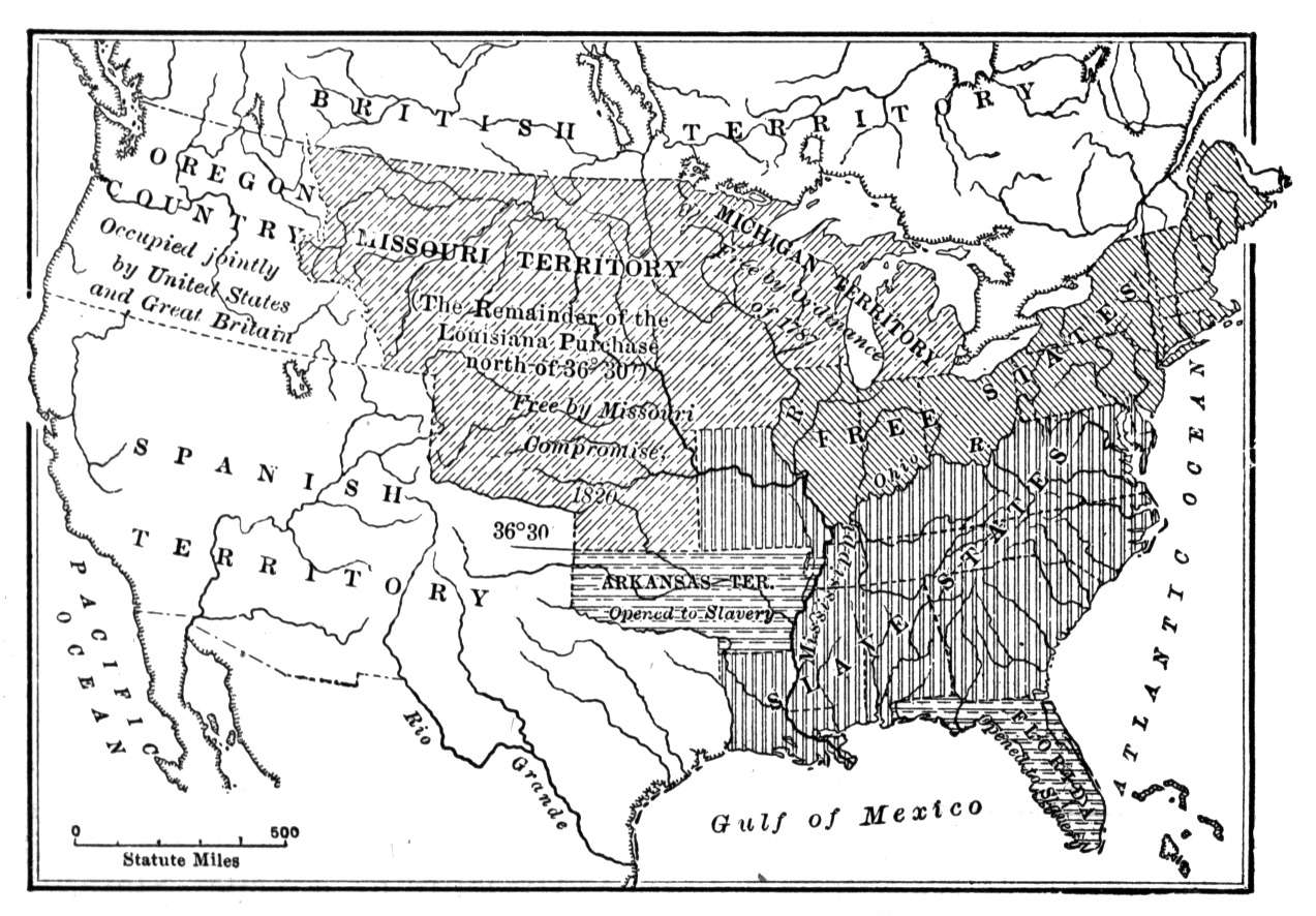the missouri compromise missouri compromise map