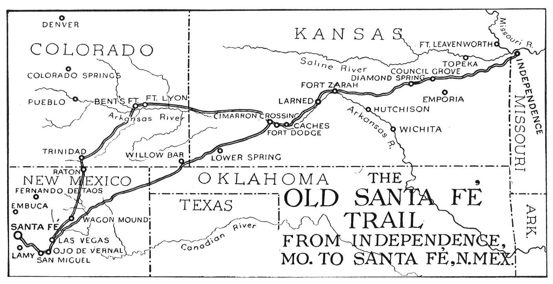 New Santa Fe Trail Map
