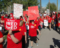 Arizona teachers Red for Ed