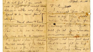 Titanic survivor Kate Buss letter